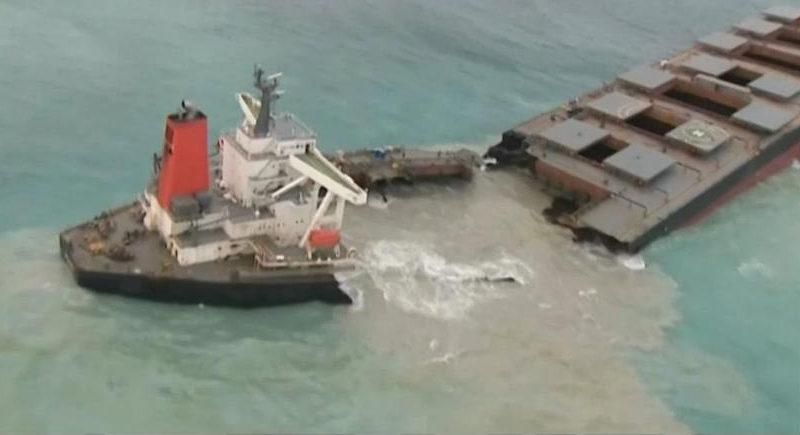 Isola di Mauritius, il disastro ecologico causato dalla petroliera giapponese