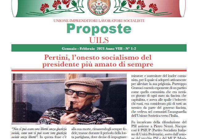 Periodico Proposte UILS – N. 1-2 – Gennaio-Febbraio 2021