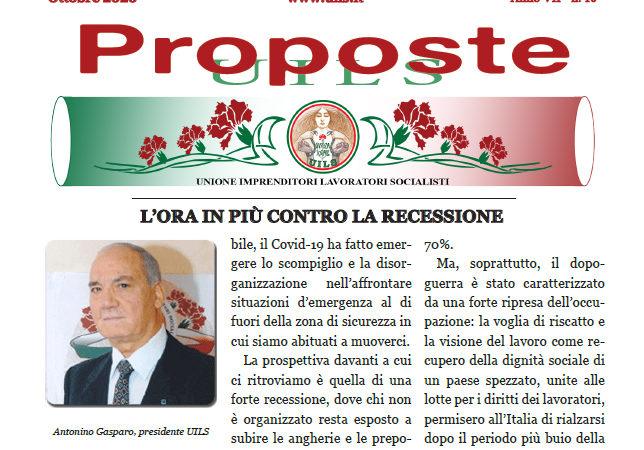 Periodico Proposte UILS – N. 10 – Ottobre 2020