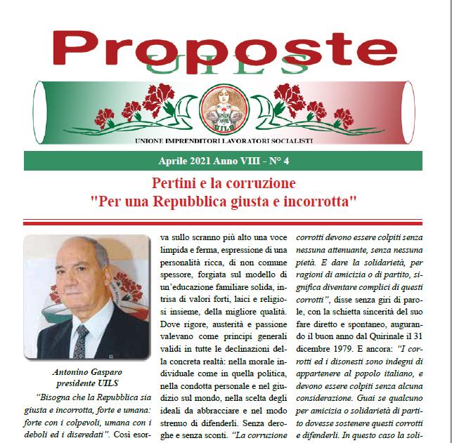 Periodico Proposte UILS – N. 4 – Aprile 2021