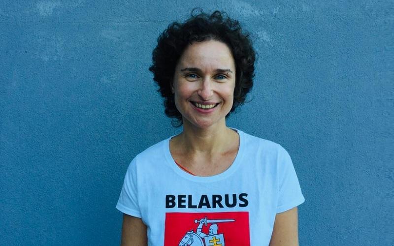 L'attivista bielorussa Ekaterina Ziuziuk. Photo credit: FNSI.